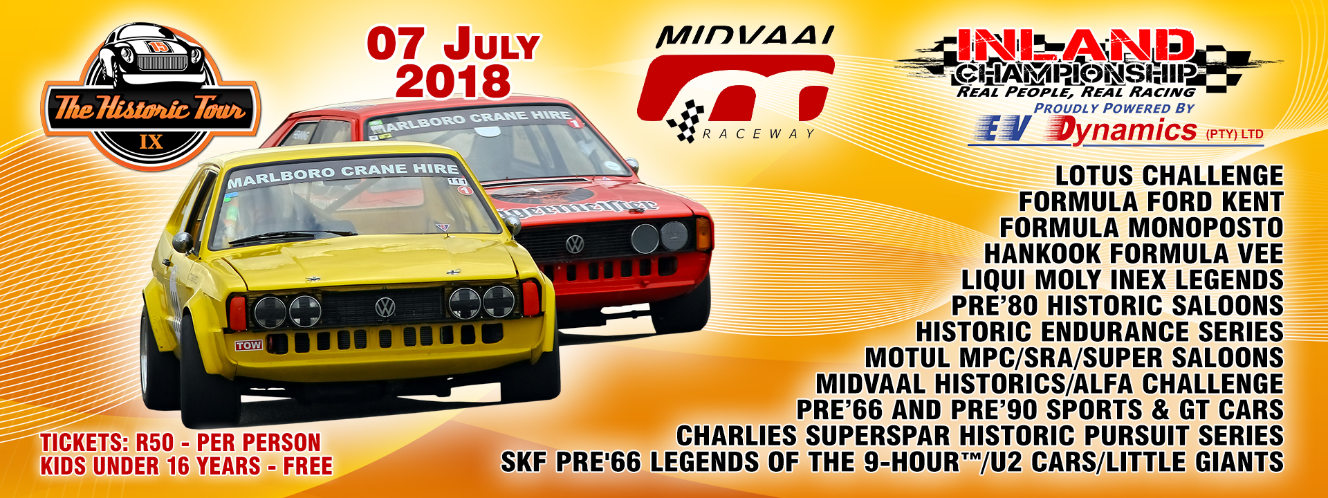 Entries open for Round 4 of Historic Tour at Midvaal on 7 July 2018
