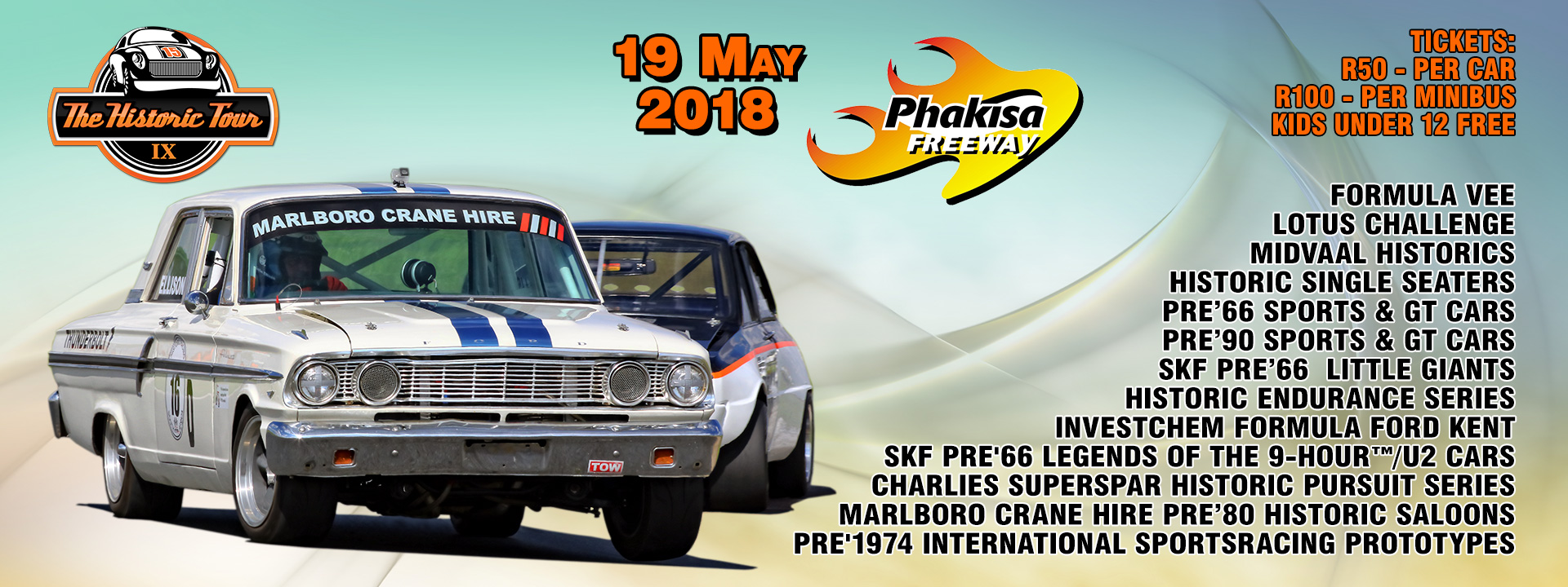 Entries open for Round 3 of Historic Tour at Phakisa on 19 May 2018